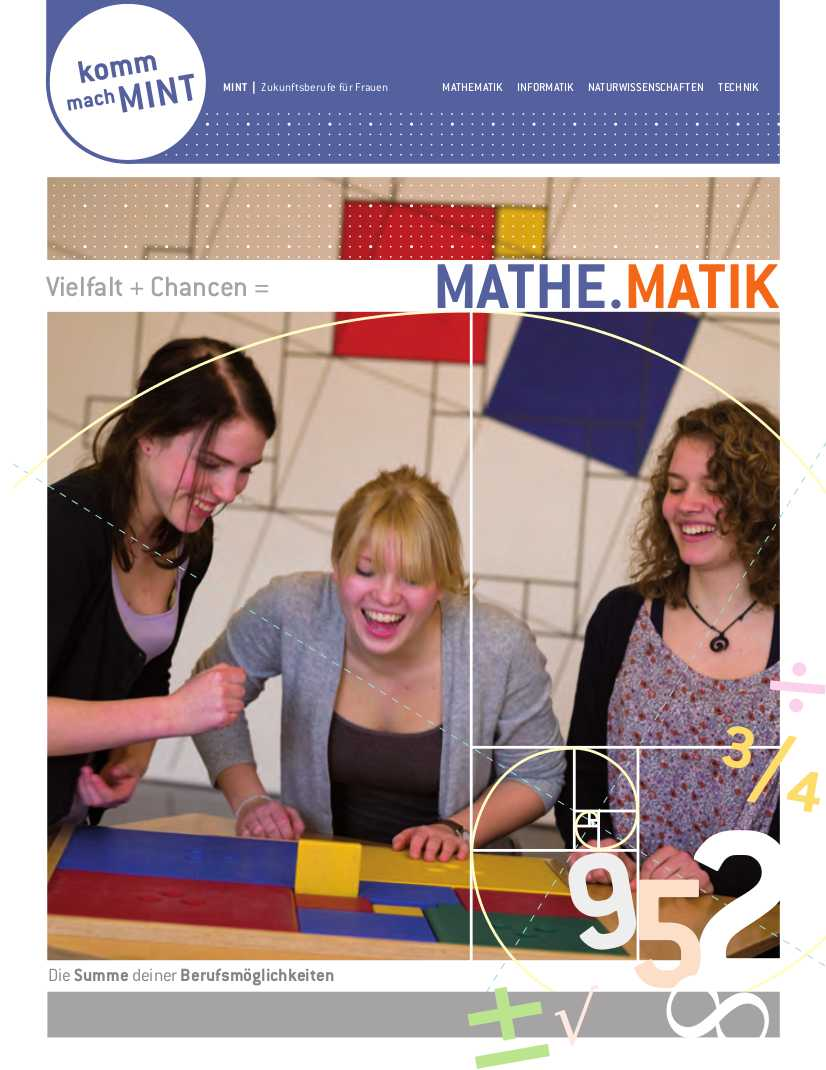 Titelbild der Mathematikbroschüre